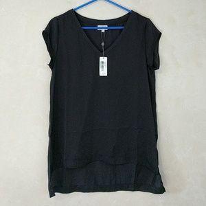 AG Silky Black Tee Shirt Top